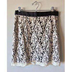 Dresses & Skirts - Black & Ivory Lace Skirt